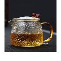 錘紋耐熱玻璃茶壺(400ml)