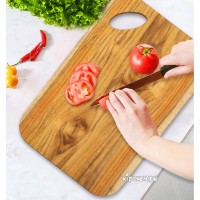 柚木整木長方形砧板(厚度2公分)