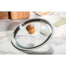 深色圓木不鏽鋼組合鍋蓋