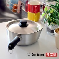 [Sori Yanagi]柳宗理不鏽鋼啞光帶蓋雪平鍋