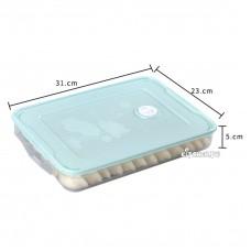 [荷花圖案]綠蓋保鮮盒