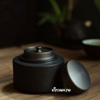 [自吸式]陶瓷茶葉罐