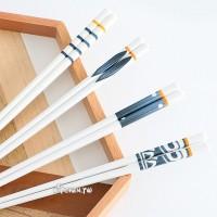 [釉下彩-四種圖案任選]陶瓷筷子