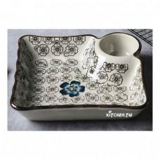 [釉下彩]藍富貴水餃盤(小:180元 大:250元)
